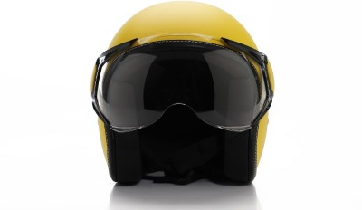 Vespa Colour Helmet Yellow Motorbike Helmet(Yellow)