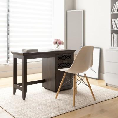 Flipkart Perfect Homes PureWood Sheesham Study Table(Free Standing, Finish Color - Walnut)