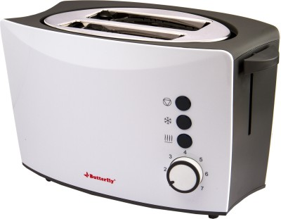 Butterfly ST 01 800 W Pop Up Toaster(White, Grey)
