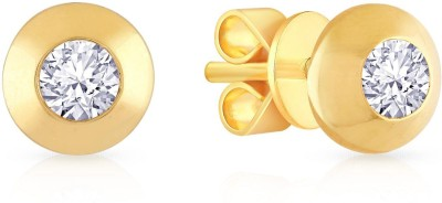 Malabar Gold and Diamonds SMGEG004 Yellow Gold 18kt Stud Earring