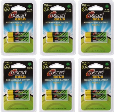 Tuscan GOLD AAA 1100mAh 6 Pack  12Pcs  Rechargeable Ni MH Battery