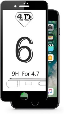 Novo Style Edge To Edge Tempered Glass for Apple IPhone 6 4D Curved Ultra HD Tempered Glass(Pack of 1)