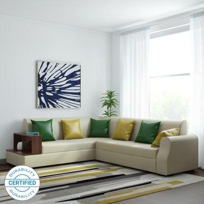 Muebles Casa Marco Leatherette 6 Seater  Sofa(Finish Color - Beige)