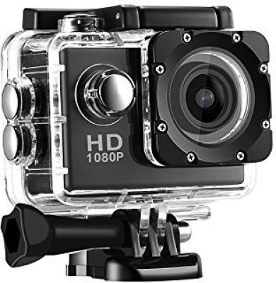 Spring Jump Action Sports 1080p 12MP Sports Waterproof Camera With Micro Sd Card Slot And Multi Language Action Video Waterproof Camera Up To 30M 2 Inch LCD Super Wide Angle Sports and Action Camera(Black 12 MP) 1