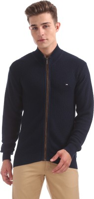 Arrow Sport Solid Casual Men Blue Sweater at flipkart