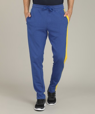 United Colors of Benetton Solid Men Blue Track Pants at flipkart