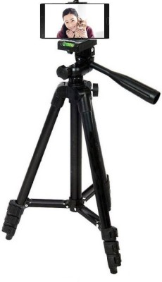 Spring jump 105 CM light weight Tripod camera stand for Digital camera and Mobile Tripod Kit(Black, Supports Up to 1500 g) 1