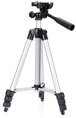 Spring jump camera Tripod with mobile holder Tripod(Silver, Supports Up to 1000 g)