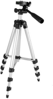 Spring Jump 3 Way Head Tripod 3110 Tripod Kit With Mobile Clip Holder, Fully Flexible Mount Cum Tripod Kit?? Tripod(Silver, Supports Up to 2000 g) 1