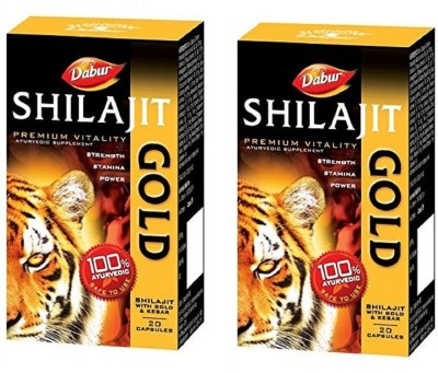 Dabur Shilajit with Gold and Kesar(40 No)
