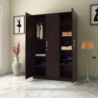 Flipkart Perfect Homes Julian 3 Door Wardrobe(Finish Color - Wenge)