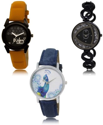 NEUTRON Treading Traditional Blue Orange Color 3 Watch Combo (GL208-GL235-GL241) For Girls And Women New Unique Combo Watch  - For Women