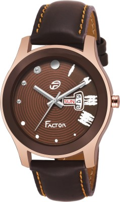 Factor FR-G552-BRBR-DD Super Brown Party Player Edition Analog Watch  - For Men