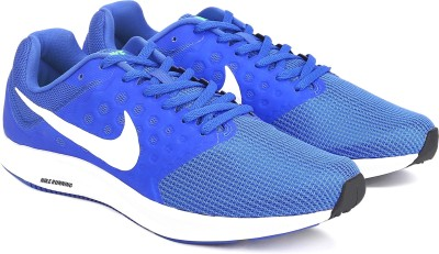 Nike DOWNSHIFTER 7 Running Shoes For Men(White, Blue) 1