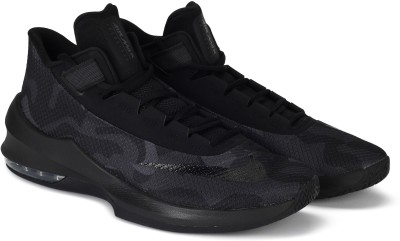Nike AIR MAX INFURIATE 2 MID PRM Basketball Shoes For Men(Black) 1
