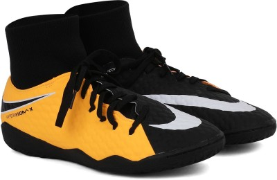 Nike HYPERVENOMX PHELON 3 DF IC Football Shoes For Men(Black, Yellow) 1