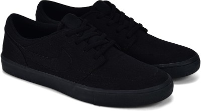 Nike SB PORTMORE II SOLAR CNVS Sneakers For Men(Black) 1