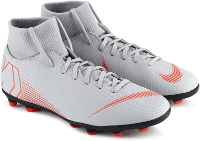 Nike SUPERFLY 6 CL Football Shoes For Men(Black, Grey) 1