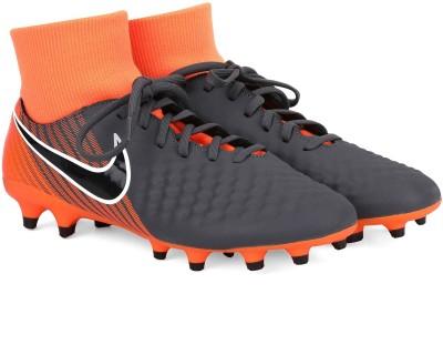 Nike OBRA 2 ACADEMY DF FG Football Shoes For Men(Grey, Orange) 1