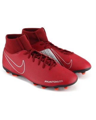 Nike PHANTOM VSN C Football Shoes For Men(Burgundy) 1