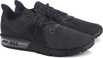 Nike AIR MAX SEQUENT 3 Running Shoes For Men(Black, Grey) 1
