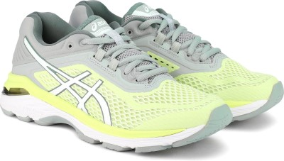 Asics GT-2000 6 Running Shoes For Women(Grey, Yellow) at flipkart