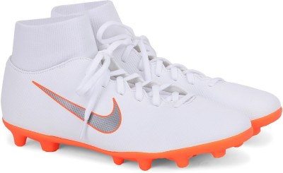 Nike SUPERFLY 6 CLUB FG/MG Football Shoes For Men(White) 1