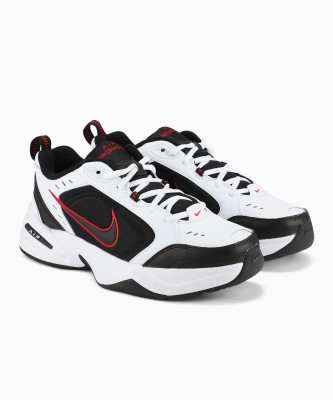 Nike AIR MONARCH IV Training & Gym Shoes For Men(White, Black) 1