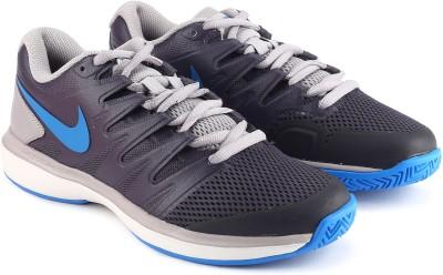 Nike AIR ZOOM Tennis Shoes For Men(Grey) 1