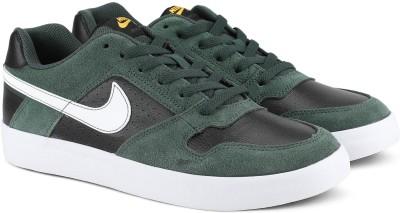 Nike SB DELTA FORCE VULC Sneakers For Men(Black, Green) 1