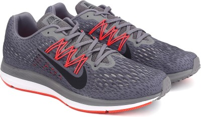 Nike ZOOM WINFLO 5 Running Shoes For Men(Black, Grey) 1