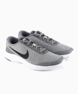 Nike NIKE FLEX EXP Walking Shoes For Men(White, Grey) 1