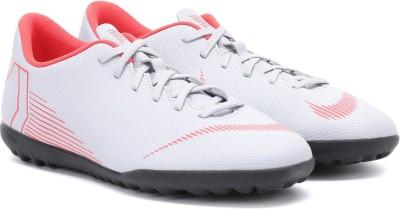 Nike VAPOR 12 CLUB Football Shoes For Men(Grey, Orange) 1