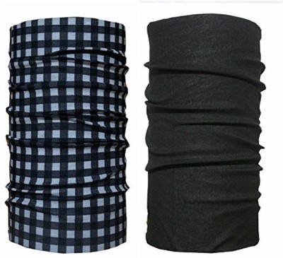 Atabz Boys & Girls, Men & Women Solid, Checkered Bandana(Pack of 2)