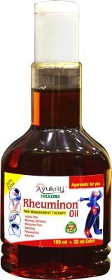 Ayukriti Herbals Rheuminon Pain Oil (Joints Pain , Mornig Stiffness,Muscular Pain, Swelling) Liquid(120 ml)
