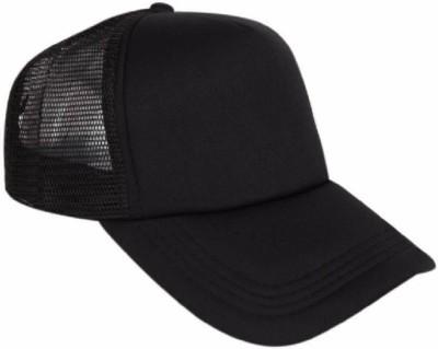 Good Friends Solid Stylish Cotton Baseball Adjustable Black Cap For Men Cap