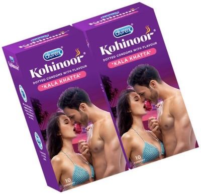 Durex Kala Khatta ( pack of 2 ) Condom(Set of 2, 20S)