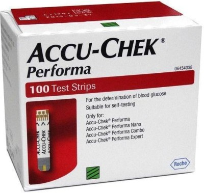Accu-Chek 100 Strips For Performa & Nano Glucometer(Red)