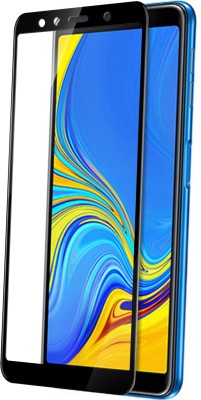 Knotyy Edge To Edge Tempered Glass for Samsung Galaxy A7 2018 Edition(Pack of 1)