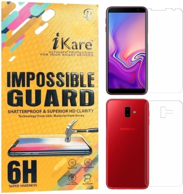 iKare Front and Back Screen Guard for Samsung Galaxy J6 Plus(Pack of 2)