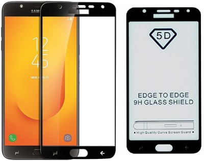 Novo Style Tempered Glass Guard for Samsung Galaxy J7 Duo (2018) 5D Curved Anti-Bubble Ultra HD Glass