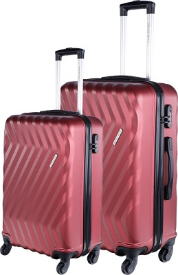 Nasher Miles Lombard Set Of 2 20 24 Check in Luggage   24 inch