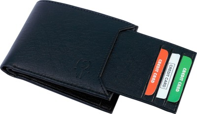 SAMTROH Men Casual Black Artificial Leather Wallet(6 Card Slots)