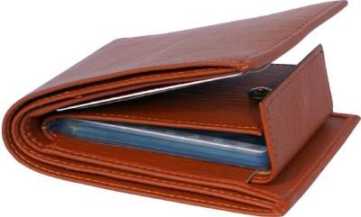Vinisha Enterprise Men Tan Artificial Leather Wallet 12 Card Slots