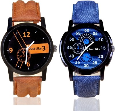 just like Stylish Attractive Chronograph Pattern Combo pack-2 Boys Watch Combo pack 2 Analog Watch  - For Boys