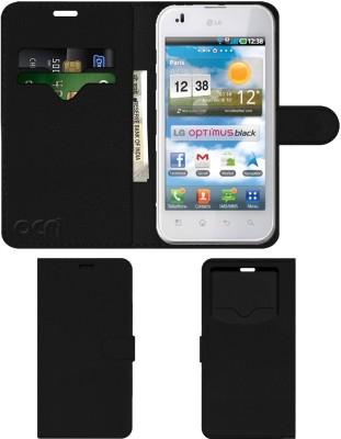 ACM Flip Cover for Lg Optimus P970(Black, Cases with Holder)