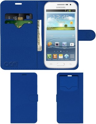 ACM Flip Cover for Samsung Galaxy Win Grand Quattro I8552(Blue, Cases with Holder)