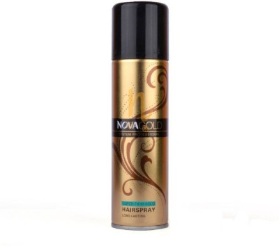 Nova GOLD SYSTEM PROFESSIONAL SUPER FIRM HOLD HAIR SPRAY Hair Color(GOLD)