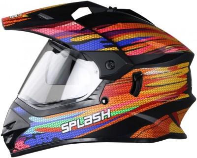 Steelbird Splash Motorbike Helmet(Multicolor)