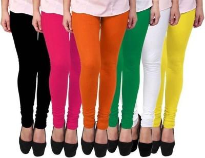 Lili Ankle Length  Legging(Pink, Beige, Black, Brown, Maroon, Purple, Orange, Light Green, White, Red, Solid)